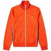 Fred Perry Authentic Taped Side Track Jacket Orange