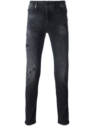 Marcelo Burlon County Of Milan Distressed Skinny Jeans Black