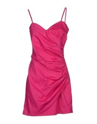 Guess By Marciano Short Dresses Fuchsia