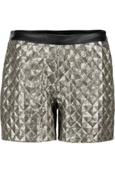Karl Lagerfeld Rena Sequined Jersey Shorts Metallic
