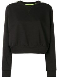 No Ka' Oi Cropped Sport Sweatshirt Black