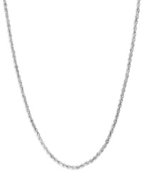 Macy's 14K White Gold Seamless 24 Inch Chain Necklace