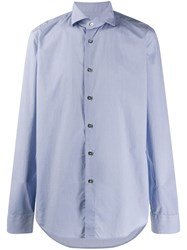 Dell'oglio Dotted Pattern Shirt Blue