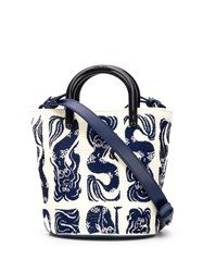 Kenzo Mermaids Mini Tote Bag White