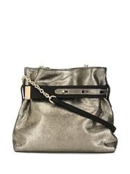 Lanvin Buckled Pouch Bag Green