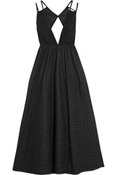 Tomas Maier Cutout Guipure Lace And Broderie Anglaise Cotton Dress Black