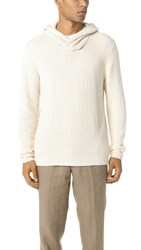 Vince Textured Hoodie Sweater Painter's Cloth