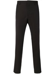 Salvatore Ferragamo Classic Suit Trousers Wool Brown
