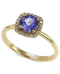 Effy Collection Violette By Effy Tanzanite 3 4 Ct. T.W. And Diamond Accent Ring In 14K Yellow Gold