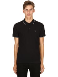 Belstaff Logo Cotton Pique Polo Shirt Black