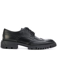 Versace Lace Up Brogues Leather Rubber Black
