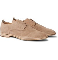 Officine Creative California Suede Oxford Shoes Beige
