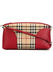 Burberry 'Haymarket' Print Shoulder Bag Nude And Neutrals
