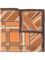 Jejia Abstract Print Scarf Brown