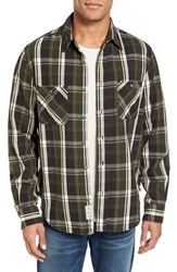 Schott Nyc Men's Classic Fit Plaid Flannel Shirt Green