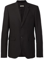 Marni Tropical Wool Slim Blazer Brown