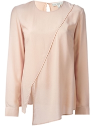 Dagmar 'Linnea' Asymmetric Blouse Pink And Purple