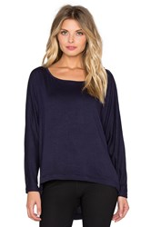 Rese Jessica Long Sleeve Top Navy
