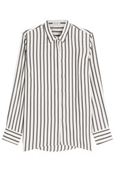 Brunello Cucinelli Striped Silk Blouse Stripes