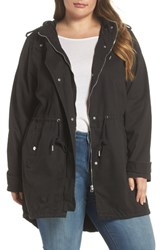 Junarose Plus Size Women's Kaliva Hooded Parka Black Beauty
