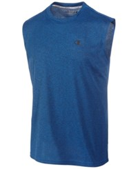Champion Men's Vapor Heathered Tank Top Blue Heather