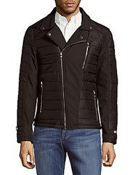 Ron Tomson Long Sleeve Puffer Jacket Black