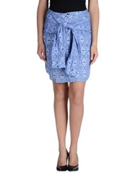 By Zoe Knee Length Skirts Blue