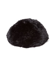 Surell Sheared Rabbit Fur Beret Black