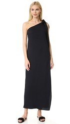 Zero Maria Cornejo One Shoulder Poeta Dress Ink Jet