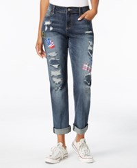 Earl Jeans A Macy's Exclusive Style Patched Boyfriend A Macy's Exclusive Style Dark Wash