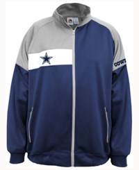 Majestic Men's Dallas Cowboys Court Track Jacket Navy Gray White