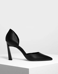 Charles And Keith Pointed D'orsay Heels Black