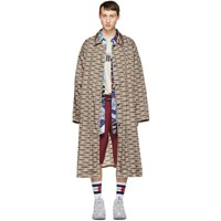 Vetements Beige Waterproof Monogram Car Coat