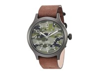 Timex Expedition Scout Leather Strap Brown Black Camo Watches