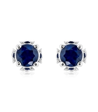 Theo Fennell Sapphire Chinese Blossom Bud Earrings