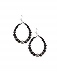 Emily And Ashley Beaded Statement Teardrop Earrings Black
