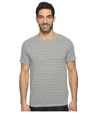 Agave Pete Short Sleeve Crew Neck Tri Blend Stripe Heather Gray Men's Clothing