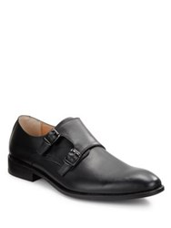 Robert Wayne Luther Leather Monk Strap Shoes Tobacco