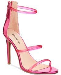 Bebe Berdine Ankle Strap Dress Sandals Women's Shoes Pink Metallic