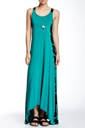 American Twist Hi Lo Maxi Dress Green