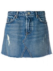 Grlfrnd Walk This Way Denim Skirt Blue