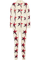Perfect Moment Star Ii Intarsia Merino Wool Jumpsuit White
