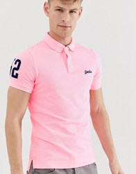 Superdry Pique Polo Shirt Pink