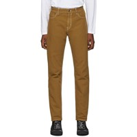 Hugo Tan Solid Relaxed Fit Jeans