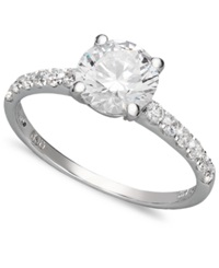 Arabella 14K White Gold Ring Swarovski Zirconia Wedding Ring 2 3 4 Ct. T.W. Clear