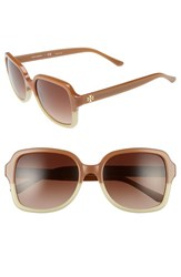 Tory Burch Women's 55Mm Sunglasses Light Brown