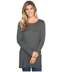 Lilla P Long Sleeve Tunic Slate Women's Clothing Metallic