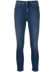 Twin Set Mid Rise Slim Fit Jeans Blue