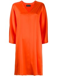 Gianluca Capannolo 3 4 Sleeve Dress Orange