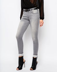 Mango Low Rise Skinny Jeans Gray